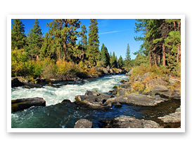 The Deschutes River near the town of Bend