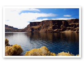Lake Billy Chinook at the confluence of the Crooked River