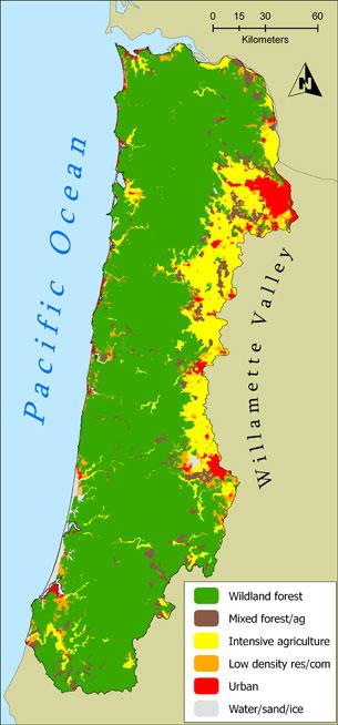 Current And Historic Coastal Land Use Oregonexplorer Oregon - Map of oregon and california coast