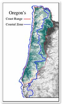 Oregon's Coast Range and Coastal Zone Map