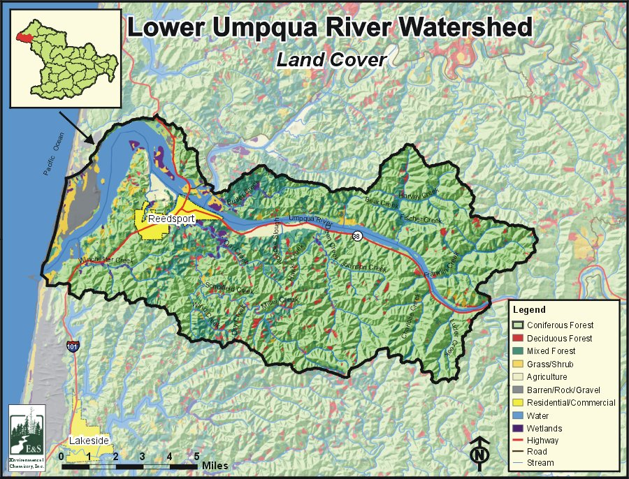 Umpqua Oregon Map.Lower Umpqua River Watershed Oregonexplorer Oregon State University