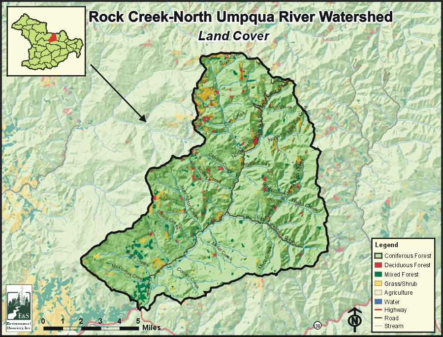 Rock Creek North Umpqua River Watershed Oregonexplorer Oregon