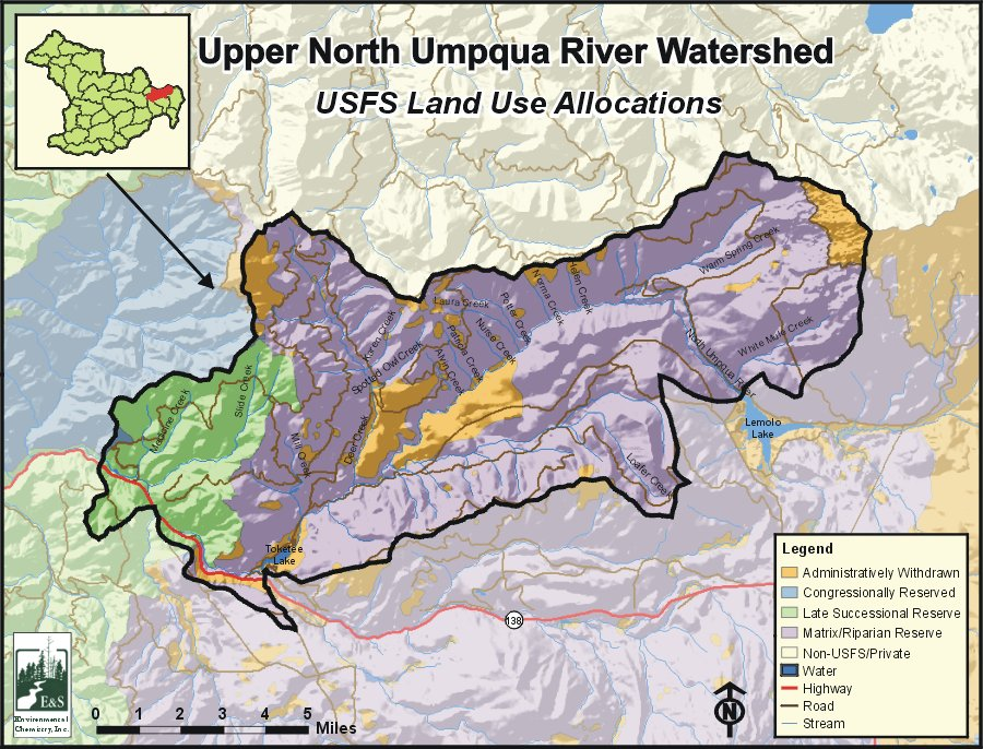 Umpqua Oregon Map.Upper North Umpqua River Watershed Oregonexplorer Oregon State