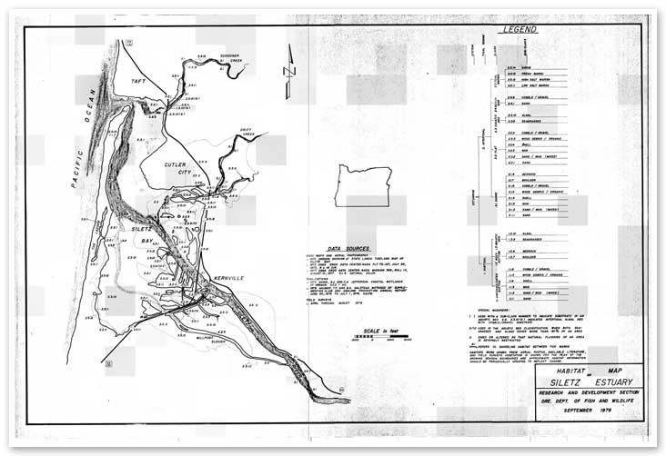 Habitat map of the Siletz Estuary