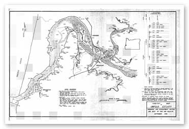 Habitat map of the Umpqua estuary