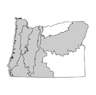 Map of Fens in Oregon