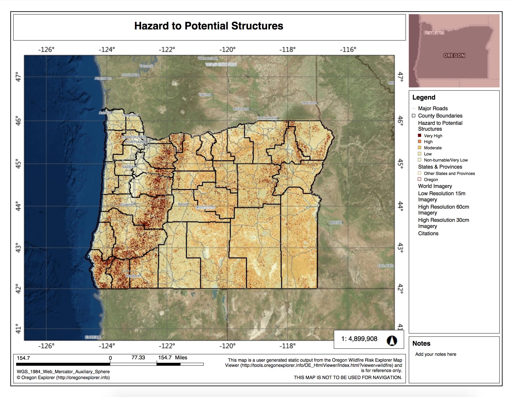 Screenshot of a sample map