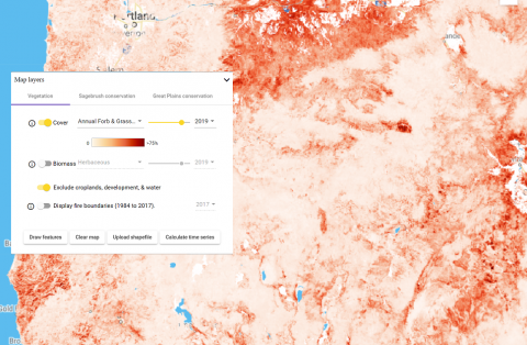 Image of rangeland analysis map viewer