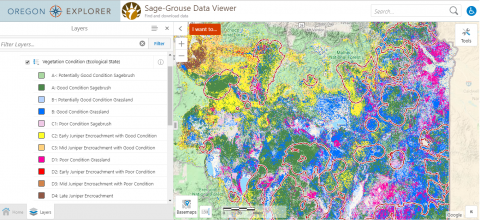 Image of sage-grouse data viewer