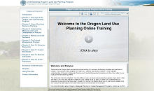 Oregon Land Use Planning Online Training
